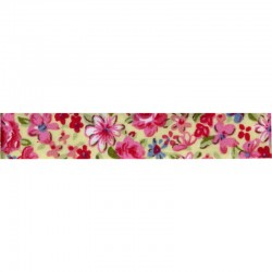 Ruban fleurs adhesif 15mm