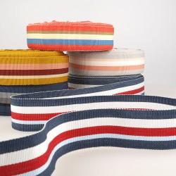 Ruban gros grain stripes