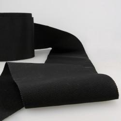 Ruban gros grain Noir - 100mm