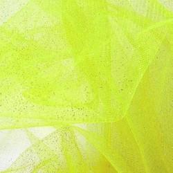 Tissu Tulle Paillette Vert Anis