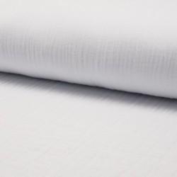 Tissu Double Gaze Uni Blanc