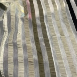 Tissu Summer Rayures Noir Gris Beige