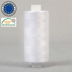 Fil polyester 1000 m Blanc -