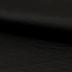 Tissu Imitation Soie Froissée Noir