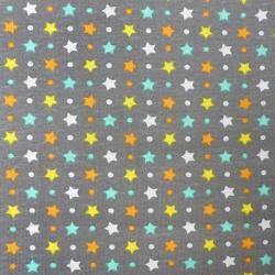 Tissu Pul Imprimé Stella Gris