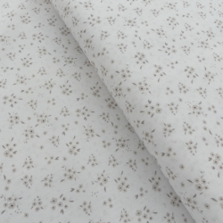 Tissu Devon Imprimé Fleurs Marron
