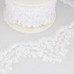 Broderie perle/paillette Blanc -