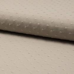 Tissu Plumetis Voile De Coton Sable