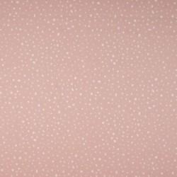 Tissu Coton Imprimé Bio Pois Rose