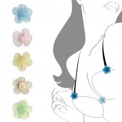 Fleur mousselineperles