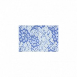 Tissu Dentelle Grande Laize Bleu Jeans