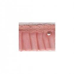 Voile plisse/dent perles