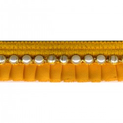 Galon plisse perles