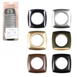 8 oeillets plastiques carrés clipsables