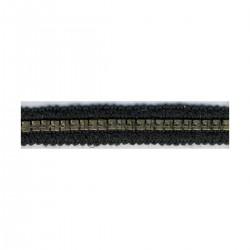Galon chaine 15mm Noir -