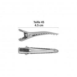 Pinces croco 45mm * 6pcs Argent -