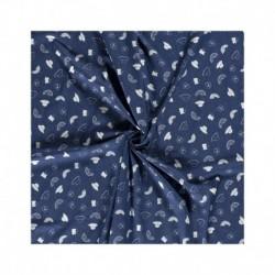 Tissu Jeans Fruit Bleu
