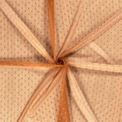 Tissu Dentelle Fleur Brique
