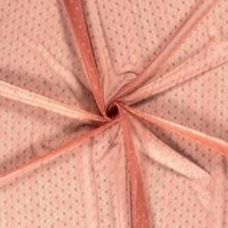 Tissu Dentelle Fleur Rose