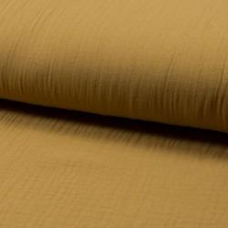 Tissu Double Gaze Uni Caramel