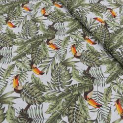 Tissu Popeline Tropic Imprimé Toucan
