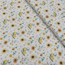 Tissu Sunny Imprimé Bio Citron