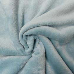 Tissu Polaire Panda Uni Aqua