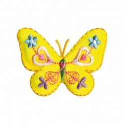 Papillon feutrine jaune