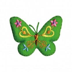 Papillon feutrine vert