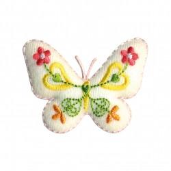 Papillon feutrine blanc