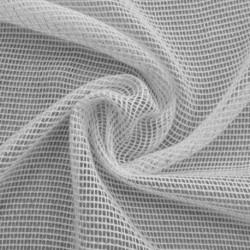 Tissu Stelly Filet Lurex Blanc