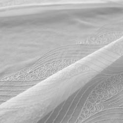Tissu Malo Etamine Unie Base Brodée Blanc