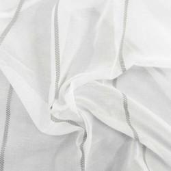 Tissu Voilage Saint Florent Blanc Brodé Gris