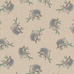 Tissu Demi panama Koala Fond Lin