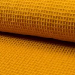 Tissu Nid D'abeille Uni Ocre