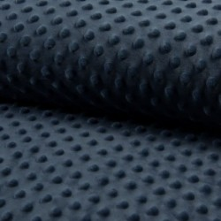 Tissu Bubble Minky Uni Jeans