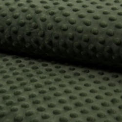 Tissu Bubble Minky Uni Kaki