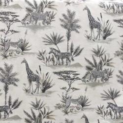Tissu Safari Toile Bachette Imprimé