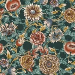Tissu Selena Digital Fleur Canard