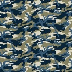 Tissu Uniform Imprimé Marine