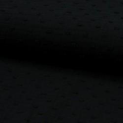 Tissu Double Gaze Pois Noir