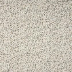Tissu Jersey Coton Imprimé Pois Fond Ecru
