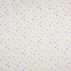 Tissu Coton Imprimé Etoile Bleue