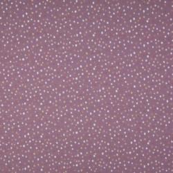Tissu Jersey Coton Imprimé Pois Fond Lilas