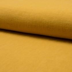Tissu Lin Lave Uni Ocre